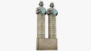 3D statues atlanteans