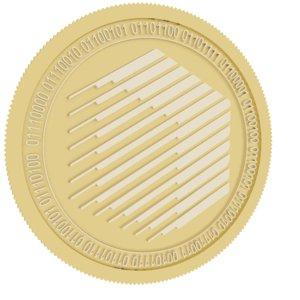 3D ren gold coin