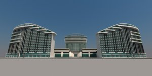 resort hotel 3D model