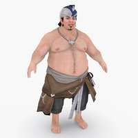 medieval china character 004 3D