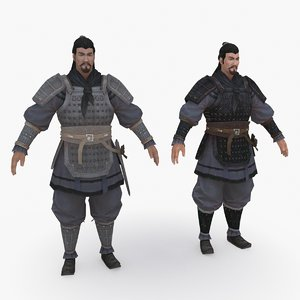 3D medieval china character 005