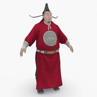 3D medieval china character 002