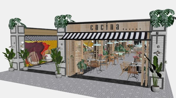cafe rest 3D model