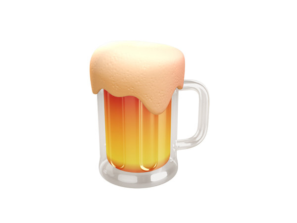 3D beer cartoon model