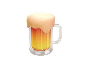 3D beer cartoon model