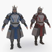 3D medieval china character 007