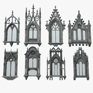 3D gothic windows
