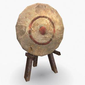 target bow shooting 3D model