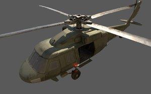 3D eh-60 black hawk helicopter model