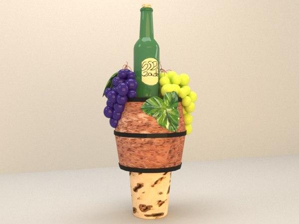 3D wine cover model