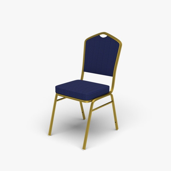 fabric stackable conference chair 3D model
