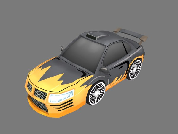 black cartoon car 3D