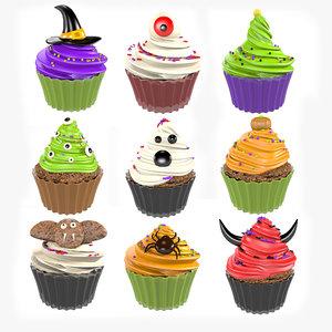 3D hat halloween cake cupcake