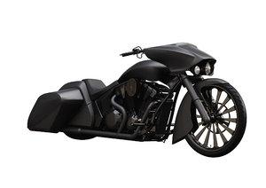 3D stateline slammer bagger motorcycle