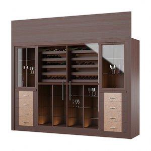 3D cabinet wine