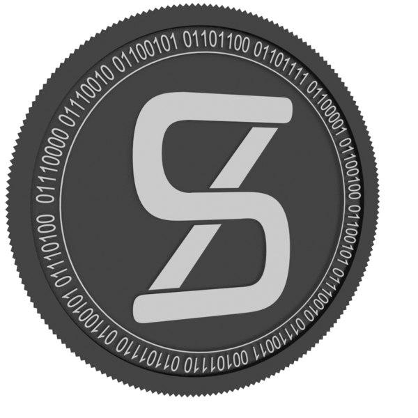 synthetix network token black 3D model