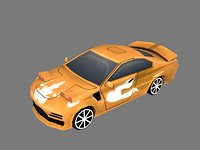 3D cartoon sport car model