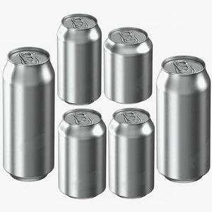 3D beverage standart cans model