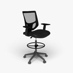 3D smugdesk drafting chair model