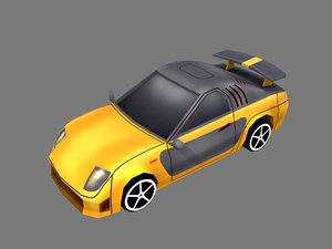 3D model car orange color