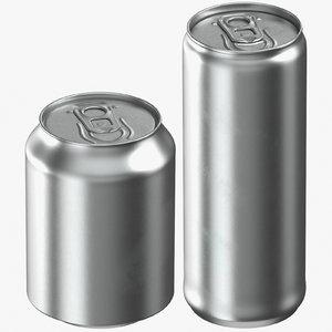 beverage cans 250 ml 3D model