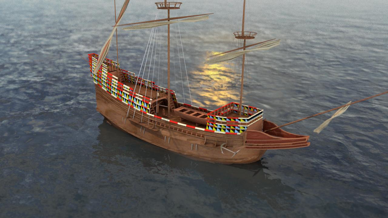 3D mayflower english ship