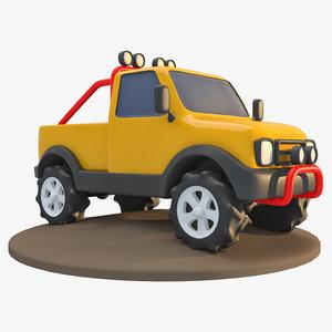 truck cartoon 3D model
