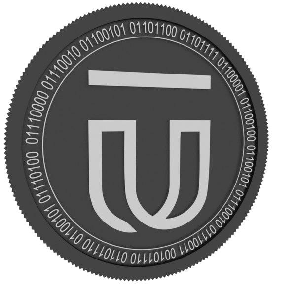 3D ugas black coin