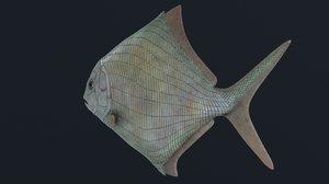extinct fish 3D