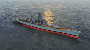 uss new jersey bb model