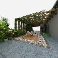 patio bottle plants decorative 3D