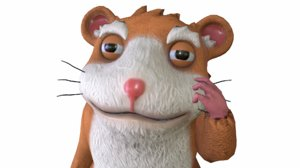 cartoon hamster animations 3D