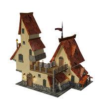 3D fantasy house