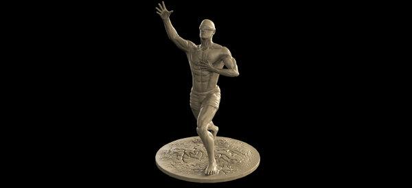 3D human sculpture body model