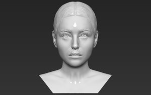 3D monica bellucci bust ready