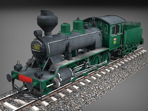 low-poly finnish steam locomotive 3D model