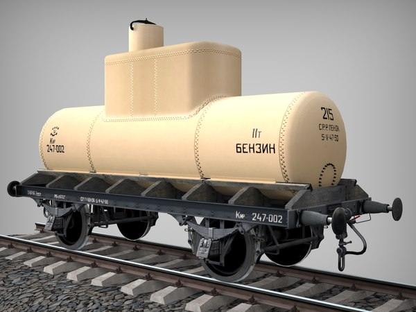 industrial oil tank 3D model