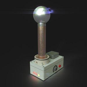 3D tesla coil model