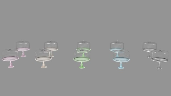 3D cake stand model