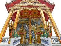3D model thailand temple ultra hd