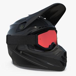 extreme helmet goggles 3D model