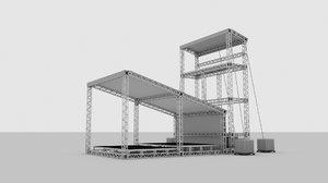 truss stage scene 3D model