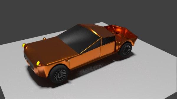 3D model pickup truck car
