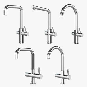 3D kitchen faucets grohe blue model