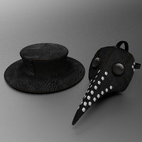 Plague Doctor's mask and hat
