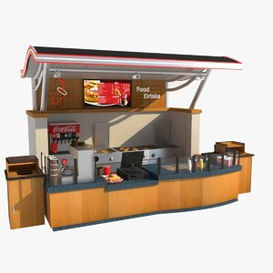 restaurant food stall model