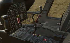 3D model interior helicopter