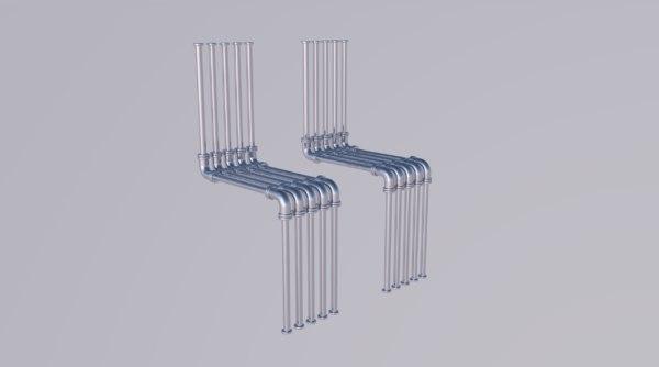 pipe valve water model