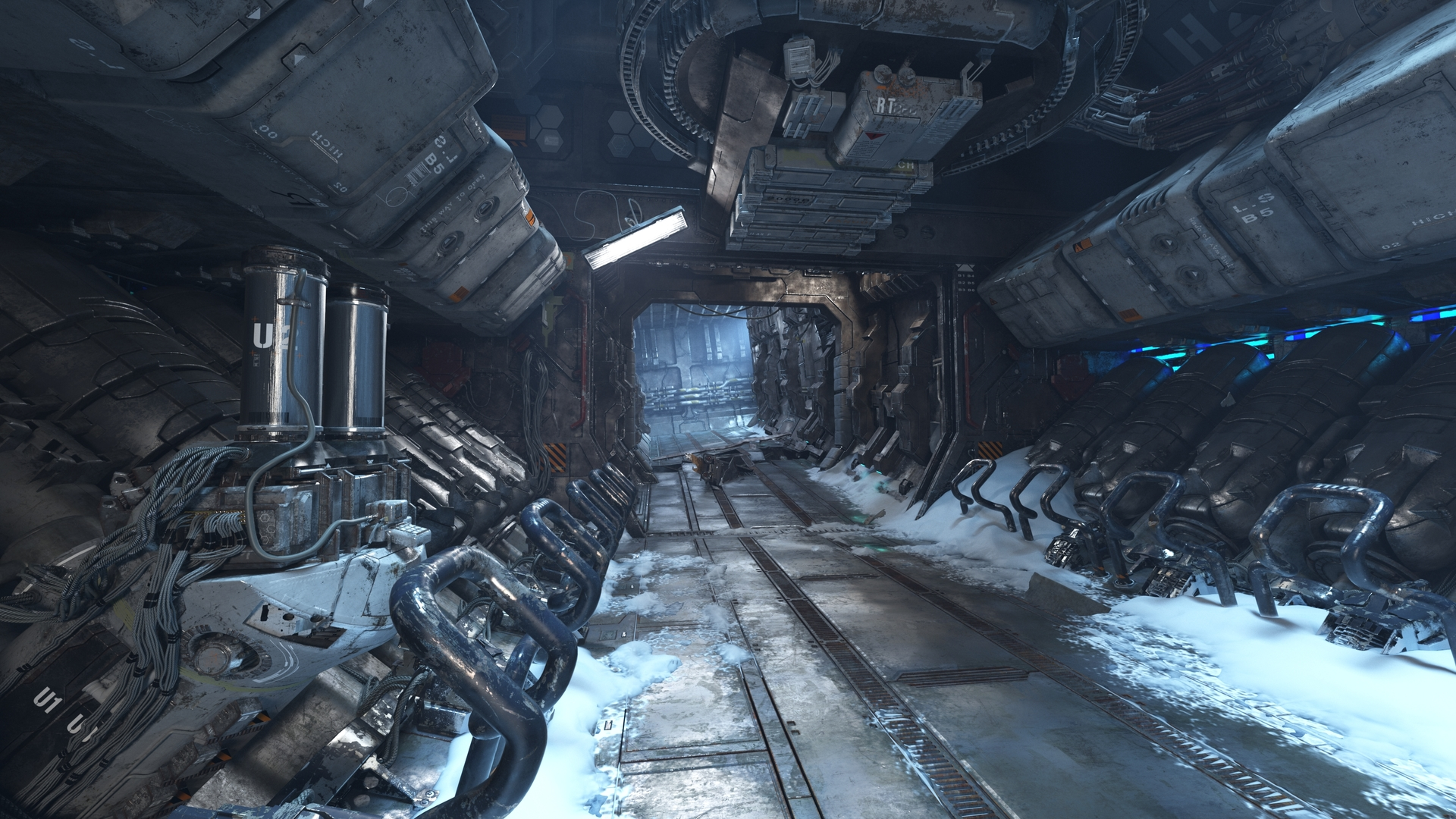 science fiction corridor 3d model