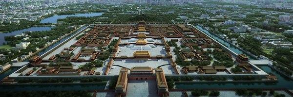 tiananmen forbidden city beijing 3D model